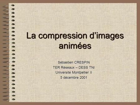 La compression d'images animées