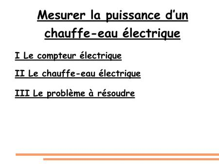 Mr Leclerc Electricité Chapitre 3: Puissance Et Energie Electrique I