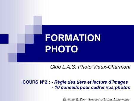 Club L.A.S. Photo Vieux-Charmont