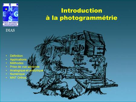 Introduction à la photogrammétrie