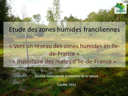 Société nationale de protection de la nature