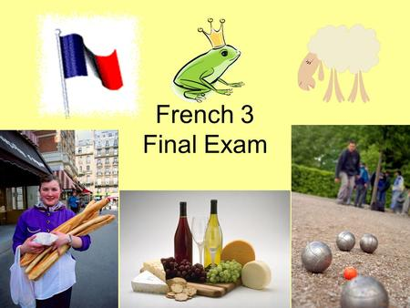 French 3 Final Exam. Negations (Translate) 1 point each Je naime pas du tout les prunes.…not at all Il ny a point de papier hygiénique.…not any / not.