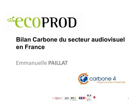 Bilan Carbone du secteur audiovisuel en France