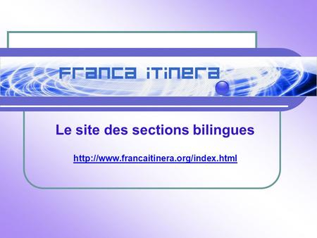 Le site des sections bilingues
