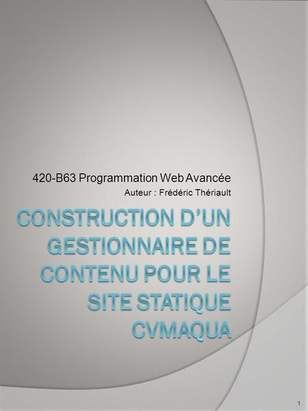programmation de sites web dynamiques pdf
