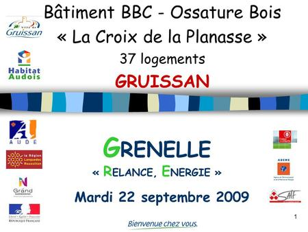 GRENELLE « RELANCE, ENERGIE » Mardi 22 septembre 2009
