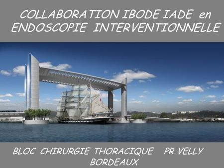 I COLLABORATION IBODE IADE en ENDOSCOPIE INTERVENTIONNELLE