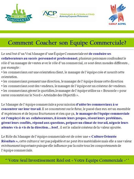 Comment Coacher son Equipe Commerciale?