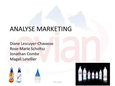ANALYSE MARKETING Diane Lescuyer-Chavasse Rose-Marie Scholtsz