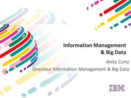 Information Management & Big Data Anita Curty Directeur Information Management & Big Data.