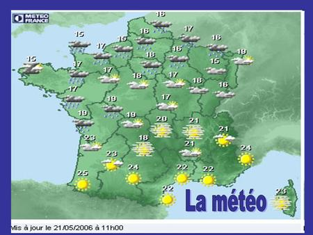 La météo  _HW9iY&feature=relatedhttp://www.youtube.com/watch?v=BGFoA _HW9iY&feature=related