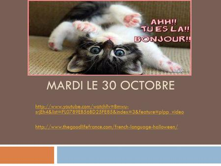 MARDI LE 30 OCTOBRE  srjEh4&list=PL0789EB56BD25FE85&index=3&feature=plpp_video