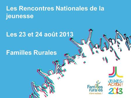 Rencontre nationales familles rurales