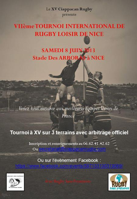 VIIème TOURNOI INTERNATIONAL DE RUGBY LOISIR DE NICE