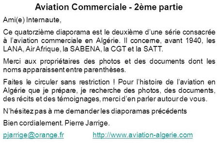 Aviation Commerciale - 2ème partie
