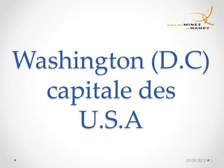 Washington (D.C) capitale des U.S.A
