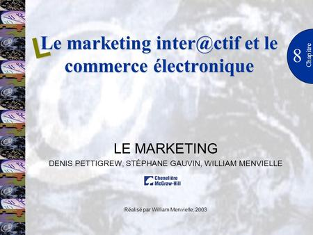 Le marketing et le commerce électronique