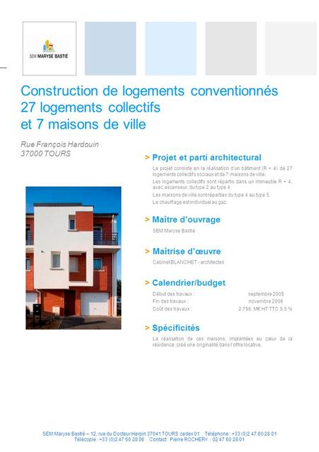 Construction de logements conventionnés 27 logements collectifs