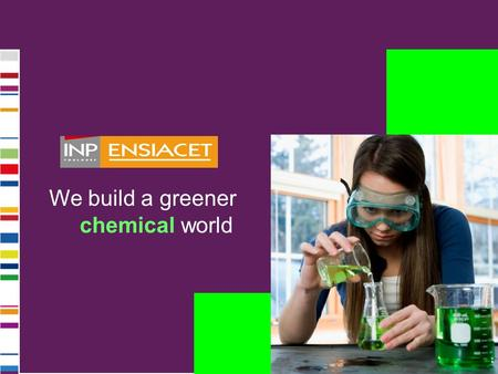 We build a greener chemical world.