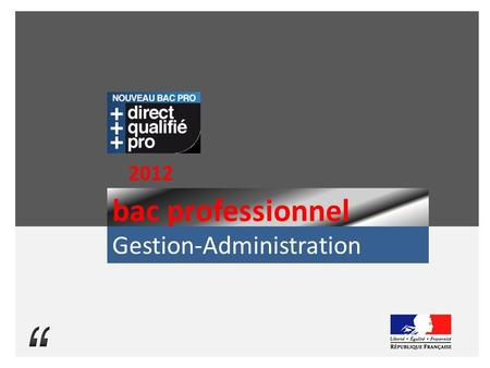 "2012 bac professionnel Gestion-Administration ""."