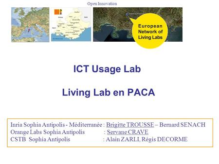ICT Usage Lab Living Lab en PACA