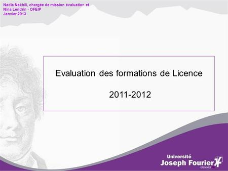 Evaluation des formations de Licence