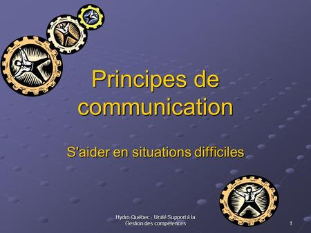Principes de communication