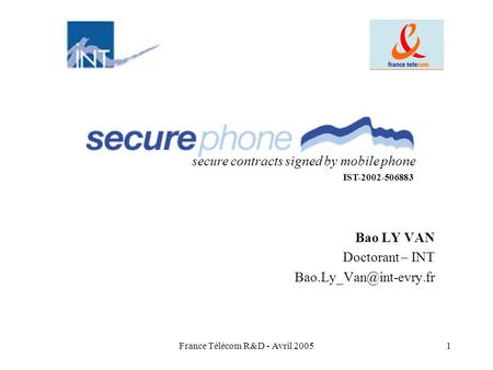 Bao LY VAN Doctorant – INT