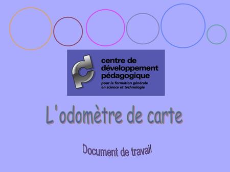 L'odomètre de carte Document de travail.