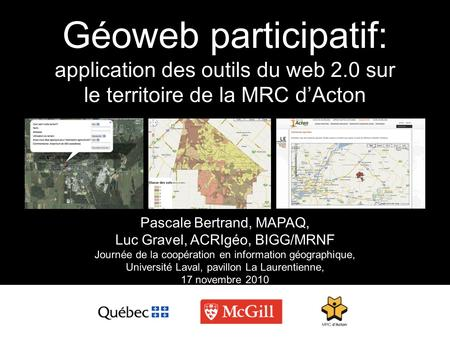 Géoweb participatif: application des outils du web 2
