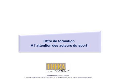 A l'attention des acteurs du sport