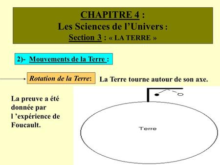 Les Sciences de l'Univers :