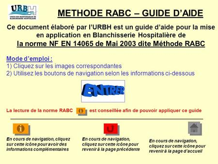 METHODE RABC – GUIDE D'AIDE