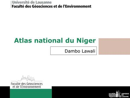 Atlas national du Niger