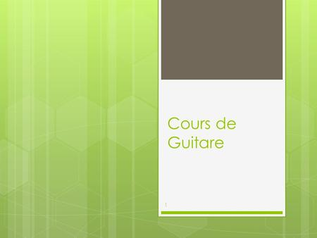 Cours de Guitare 1. Petit Lexique 2 SolfègePartitions Diagrammes daccords Point Technique Ma Rythmique.