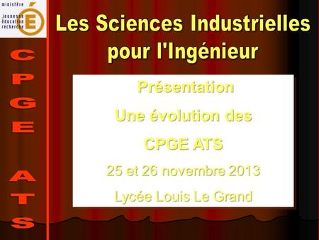 Les Sciences Industrielles