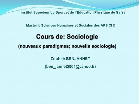 cours de sciences humaines et sociales pdf