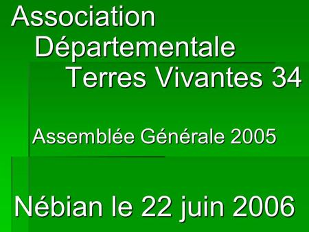 Association Départementale Terres Vivantes 34