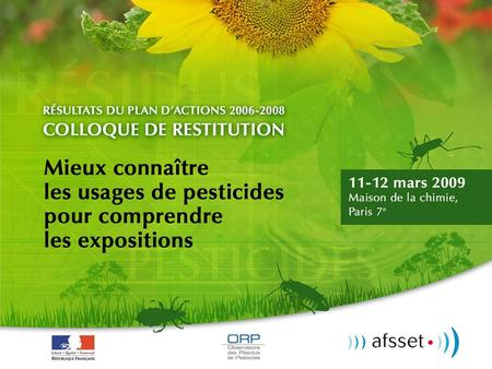 Contamination de l'air par les pesticides
