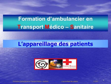 Formation d'ambulancier en Transport Médico – Sanitaire