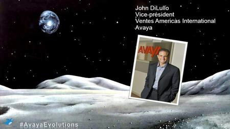 PALAIS DES CONGRÈS MONTRÉAL | JEUDI 16, 02/ 2012 | MONTRÉAL MOON only as background Jhon dilullo and title John DiLullo Vice-président Ventes Americas.