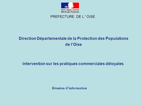 Direction Départementale de la Protection des Populations de l'Oise