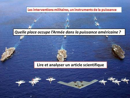 Lire et analyser un article scientifique