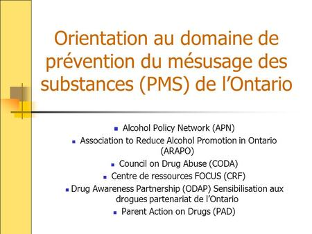 Alcohol Policy Network (APN)