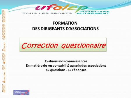 Correction questionnaire