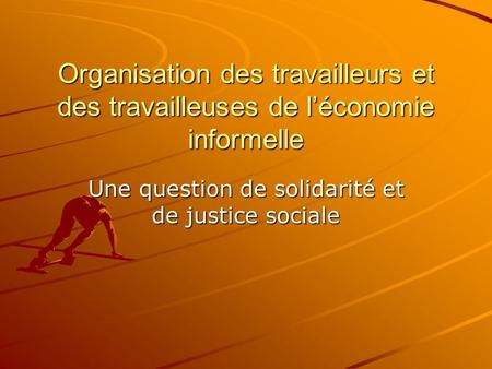Une question de solidarité et de justice sociale