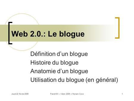 Le cybercarnet blogue et ses applications p dagogiques robert gr goire ges - Definition d histoire ...
