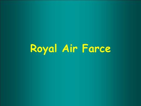 Royal Air Farce.