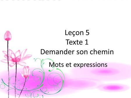 Lecon 1 rencontres