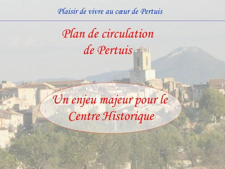 Plan de circulation de Pertuis
